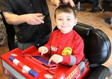 Imagination Booster Seat Kids Barbershop Salon Hair Dresser Chair w/Fireman Cape