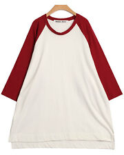 Korean Fashion women clothing BIG BOXY TEE DRESS KB160056 XL USA SELLER