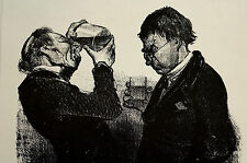 Honore Daumier c1960 DOCTOR w LABORATORY SPECIMEN - Medical Exam Print Matted