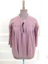 MARNI Estate 2009 Boho Chic Dusty Rose Cotton Tunic Top Blouse Sz 42