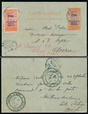 TOGO POSTAL STATIONERY 1920 OCCUPATION OPT + 10c to GOLD COAST forwarded WALES