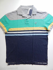 American Eagle Mens Striped Polo Shirt XL T Shirt AE Top Navy Blue NEW Nice Gift