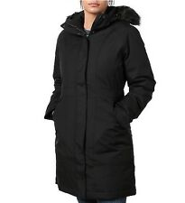 NWT THE NORTH FACE Women's Arctic Down Parka Coat Black With Black Fur Sz S $299