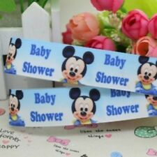 "Baby Boy Micky grossgrain ribbon Shower Favors Cards approx 1"" wide"