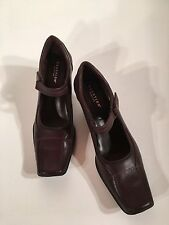 Women's Kenneth Cole Dark Brown Square Toe Mary Jane Shoes  Size 8 1/2 M