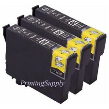 3PK Hi-Yield BK Ink For Epson 220 XL Expression XP320 XP420 XP424 WF2630 WF2650