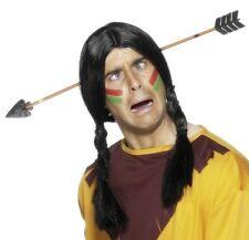 Costume Carnevale Da Cowboy Scherzo Finto Indian Arrow through the Testa Smiffys