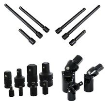 """17pc Impact Extension Adapter Reducer Universal Joint Set 1/4"""" 3/8"""" 1/2"""" 3"""" 6"""" 8"""