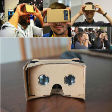 DIY Cardboard Virtual Reality 3D Glasses for Google iPhone Samsung ect Phones XN