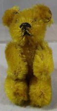 """VINTAGE 2.5"""" MINIATURE SCHUCO JOINTED MOHAIR TEDDY BEAR WITH METAL EYES"""