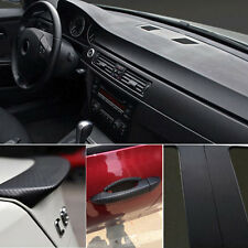 Car Interior Accessories 3D Interior Panel Black Carbon Fiber Vinyl Wrap Sticker