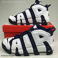 NIKE AIR MORE UPTEMPO TRAINERS MENS BLUE OLYMPIC LIMITED EDITION SHOES UK 8.5