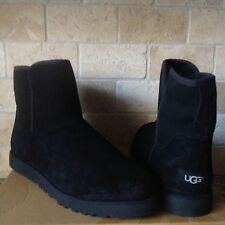 UGG CORY CLASSIC SLIM BLACK SUEDE/ SHEEPSKIN BOOTS US 12 WOMENS 1013437