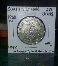 Beautiful BU 1968 South Vietnam 20 Dong KM#10 type 2 Look & bid or buy it now!!