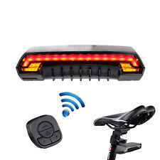 Bicycle Bike Indicator Signal LED Rear Tail Laser Light Wireless Remote USB Rech