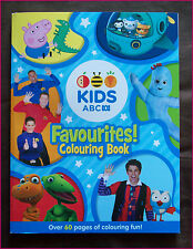 ABC KIDS FAVOURITES 64pg COLOURING IN Colour-in BOOK NEW BLUE Octonauts Peppa