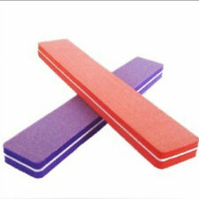 2Pcs Top  Double Sided Manicure Tool Sponge Nail Art Sanding File Buffer Buffing