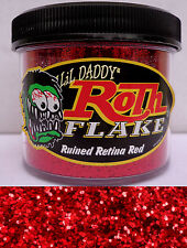 Lil Daddy Roth Metal Flake Ruined Retina Red Red 2oz Jar Hot Rod Custom