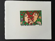 "James RIZZI: Original Farblithographie ""LOVE THE ONE YOUR WITH"", 3D Vorlage 2002"