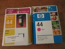 New Genuine Combo HP 51644Y #44Y Yellow and HP 51644M #44M Ink Cartridges