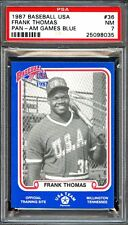 1987 baseball usa pan-am games blue #35 FRANK THOMAS white sox rookie card PSA 7