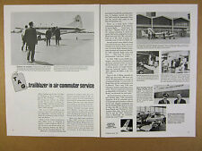 1965 Story of TAG Airlines dove & aztec C planes photo Champion Plugs vintage Ad