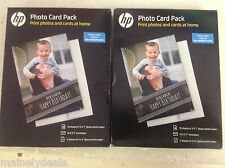 Hp Glossy Photo Card Pack Lot Of 2! SF791A! See Pics!