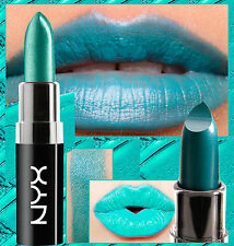 Nyx Wicked lippies Rossetto-scandelous-Color Foglia Di Tè Blu Verde-gioiello toni metallici