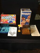BOGGLE  3 Minute Word Game Parker Brothers/1973 & Hidden Word Game 1976 2 GAMES!