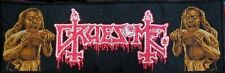 GRUESOME-SAVAGE LAND-STRIPE WOVEN PATCH-OFFICIAL-DEATH METAL