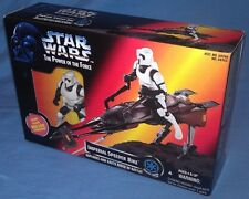 Star Wars POTF Imperial Speeder Bike w/ Biker Scout figure by Hasbro, new sealed