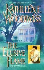 The Elusive Flame by Kathleen E. Woodiwiss (1998, trade size  Paperback)