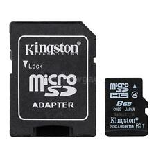 New Kingston 8GB Class 4 MicroSD SDHC SD TF Flash Memory Card 8G ZA7P