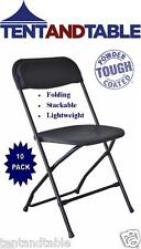 10 Plastic Folding Chairs Black with Free Shipping Today for Thanksgiving