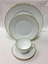 "RICHARD GINORI ""SAN REMO"" 4 PIECE PLACE SET PORCELAIN ITALY / SHOWROOM SAMPLE"
