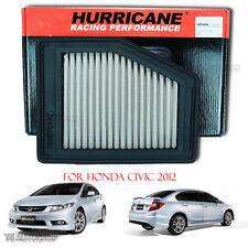 Hurricane Air Filter Power Stainless Steel For Honda Civic Fb Sedan 2012-2016