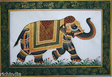 Miniature Painting Ehs Elephant  Royal Horse Duk Art N India_AR55