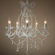 French Provincial Chandelier Large Shabby Paris Glass Crystal 5 Arm Lights NEW