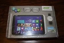 "NEW Silver Acer Iconia W3-810-1600 8.1"" HD Intel 32GB Tablet PC Windows office"