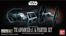 Star Wars Modellbausatz TIE Advanced X1 & Fighter Set von Bandai