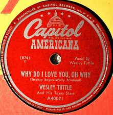 Wesley Tuttle Why Do I Love You 78 NM NOS If Ever Need a Friend Country Western