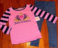 JUICY COUTURE BABY/KIDS GIRLS BRAND NEW 2Pc LEGGING DRESS SET Size 12-18M, NWT