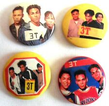3T SET OF 4 BUTTON PINS/ BADGES  MICHAEL JACKSON