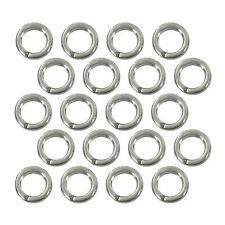 (20) Sterling Silver Plated Open Jump Rings 5mm Diameter 18 Gauge Jewelry Wire