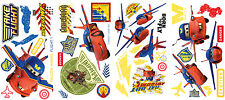 New AIR MATER & LIGHTNING MCQUEEN HAWK WALL DECALS Disney Cars Stickers Decor