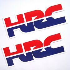 2PC. HRC HONDA RACING TEAM VINYL DECALS STICKER PRINTED DIE-CUT OUT DOOR
