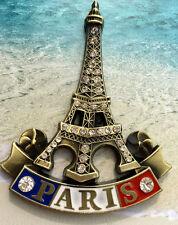 TOURIST SOUVENIR Travel Metal Fridge Magnet -- Paris , France
