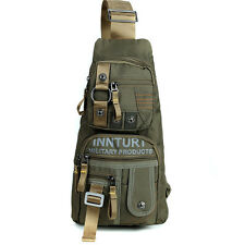 Men Nylon Tactical Cross Body Chest Back Pack Messenger Single Shoulder Bag New