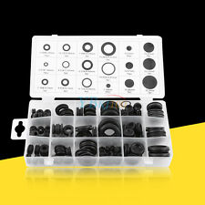125 Rubber Grommets Assortment Set Wire Protective Ring Gasket Firewall Sealing