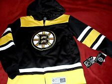 """BOSTON BRUINS EMBROIDERED """"GIII C BANKS """"JERSEY STYLE HOODED JACKET YOUTH LG NEW"""